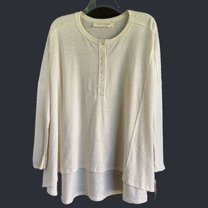 3SUM BY JAMES JEANS Oversized Henley Top - NEW